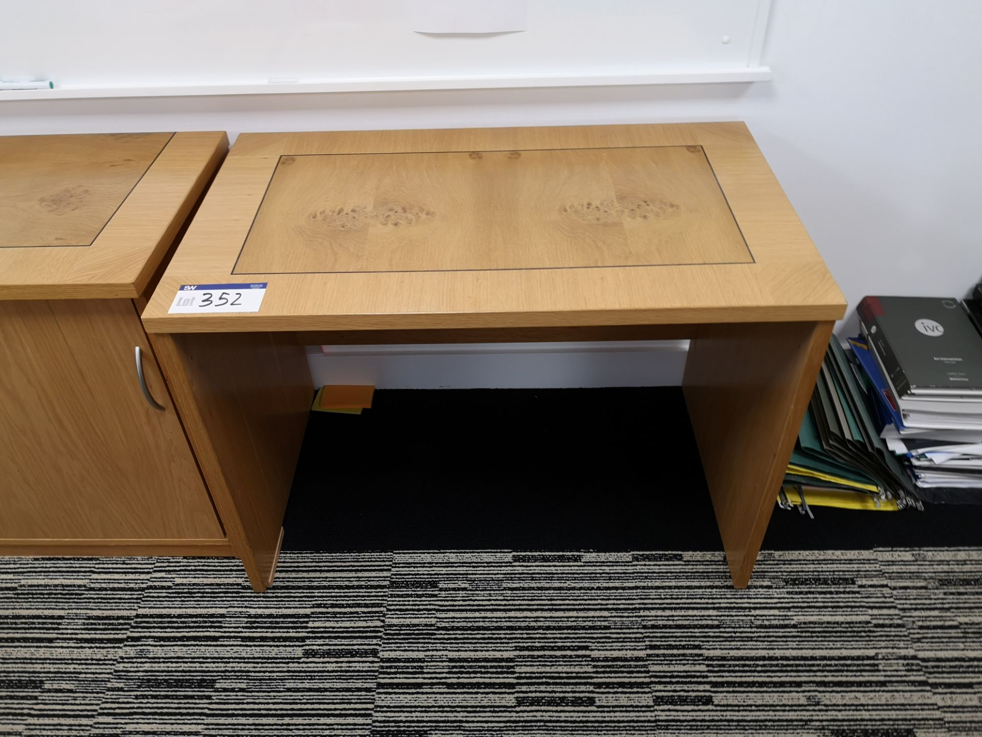 Lot 352 - Walnut Inlaid Workstation (LOT LOCATED AT 8 WHITEH