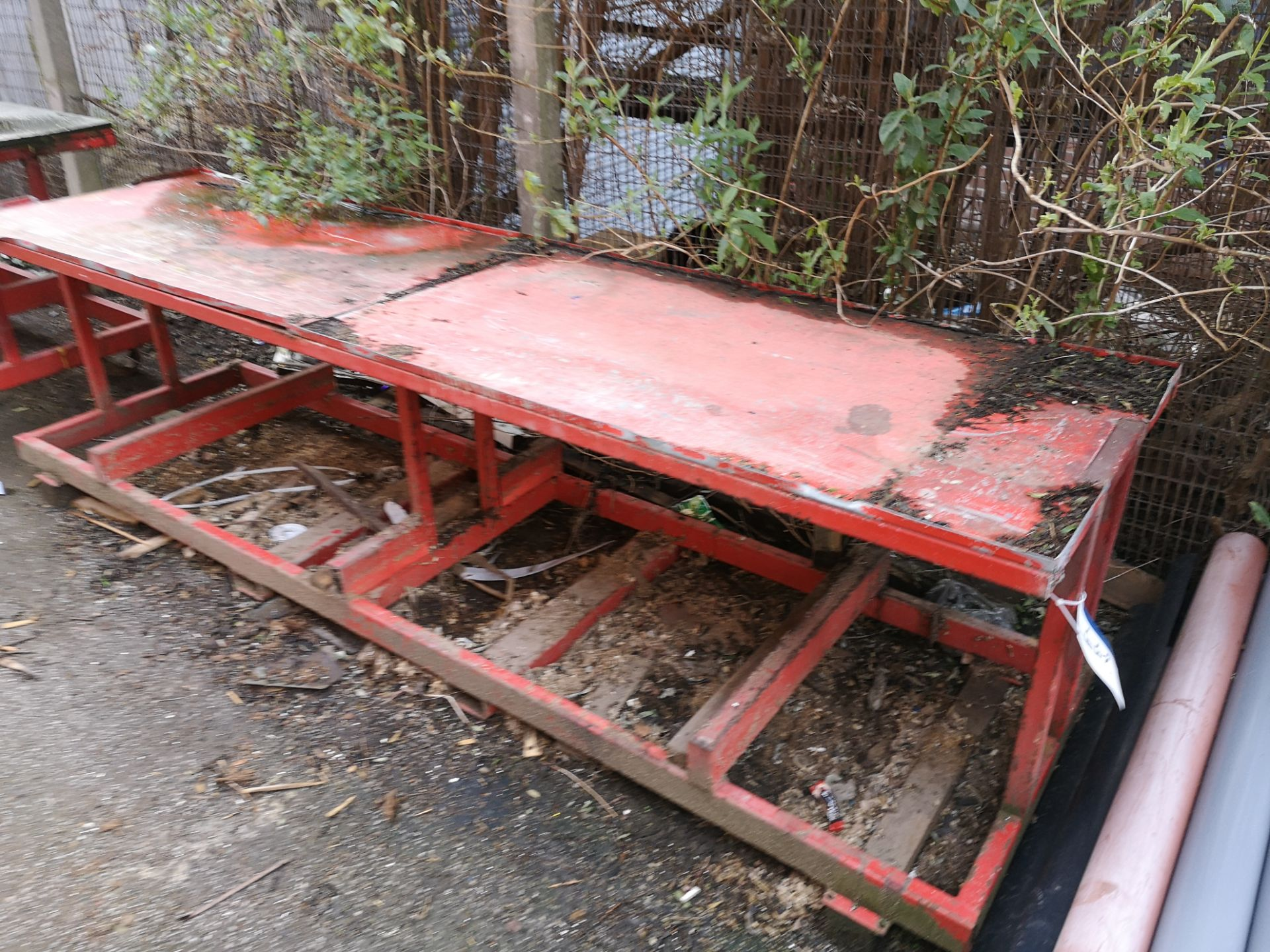 Lot 447A - Red Steel Mobile Workbench (LOT LOCATED AT 8 WHITE