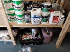 Quantity of Paint, Sealants & Expanding Foam, as s