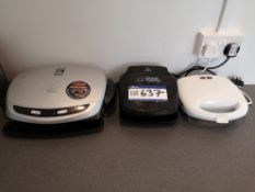 Two Various Grilling Machines & Sandwich Toaster (
