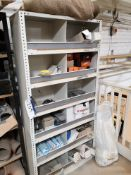 Contents to One Bay of Shelving, including fixings