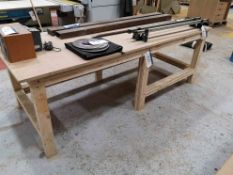 Timber Workbench, approx. 1115mm x 2720mm (LOT LOC
