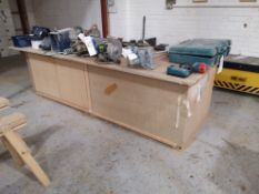 Timber Joiners Workbench, approx. 10' x 4', with v