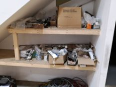 Contents of Two Shelves, including fixtures, fitti