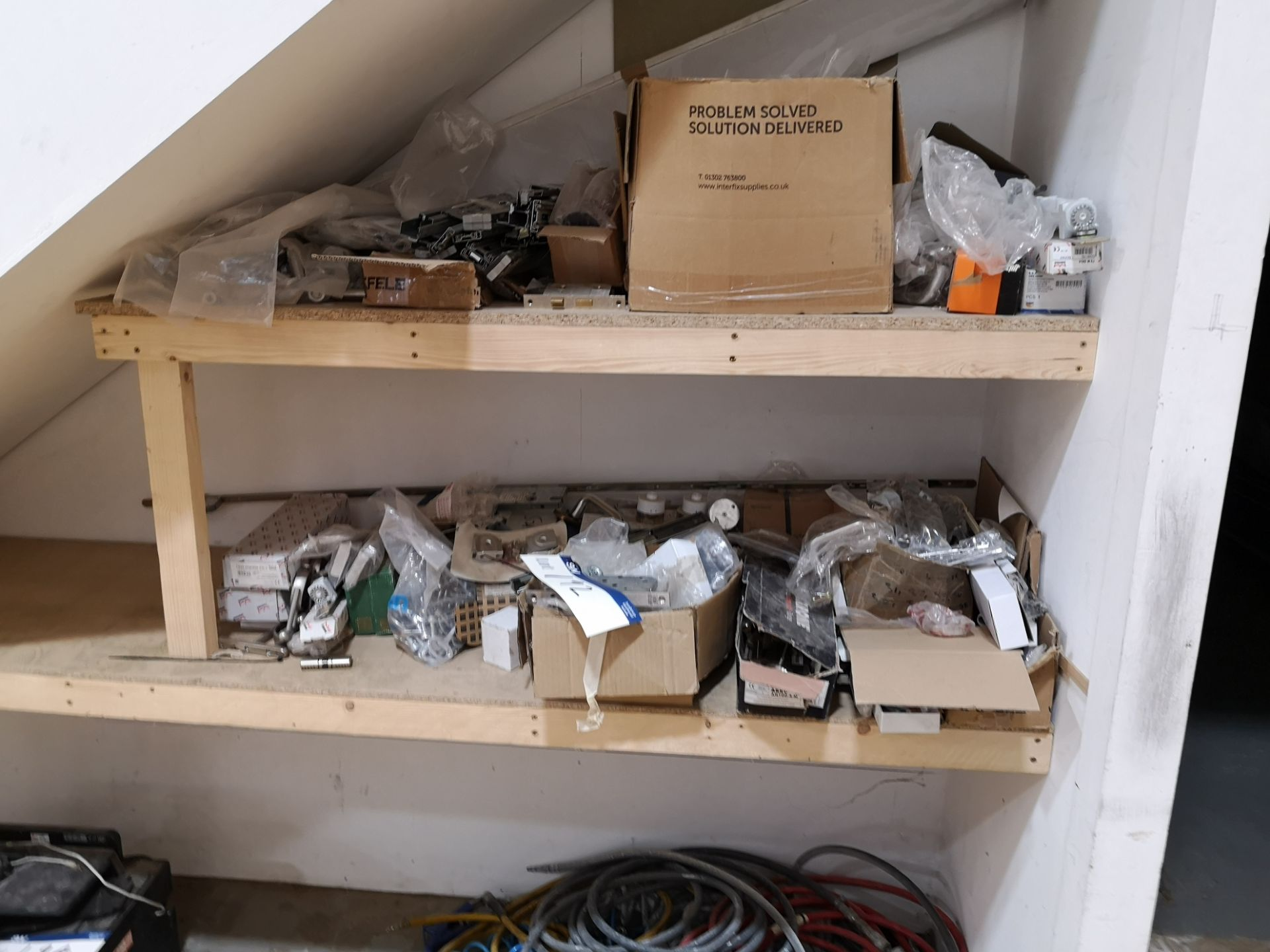 Lot 192 - Contents of Two Shelves, including fixtures, fitti