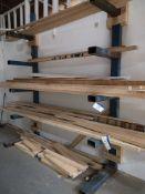Welded Five Shelf, Cantilever Steel Rack (LOT LOCA
