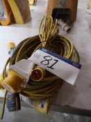 Quantity of Extension Leads, 110V (LOT LOCATED AT