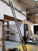 18 Rise Aluminium Ladder (LOT LOCATED AT 8 WHITEHO