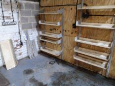 Quantity of Wall Mounted Adjustable Metal Shelving