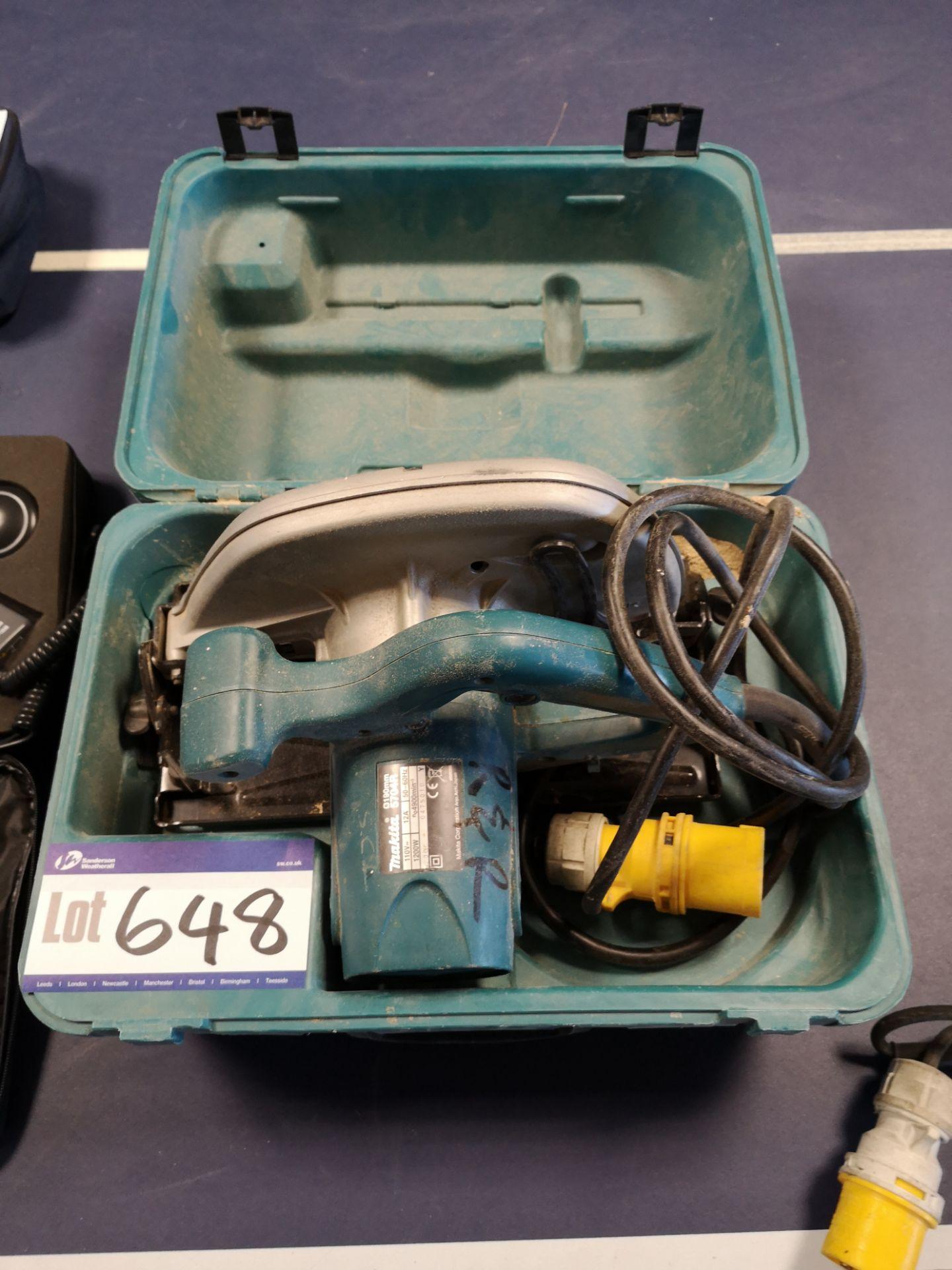 Lot 648 - Makita 5704R Circular Saw, 110V (LOT LOCATED AT 15
