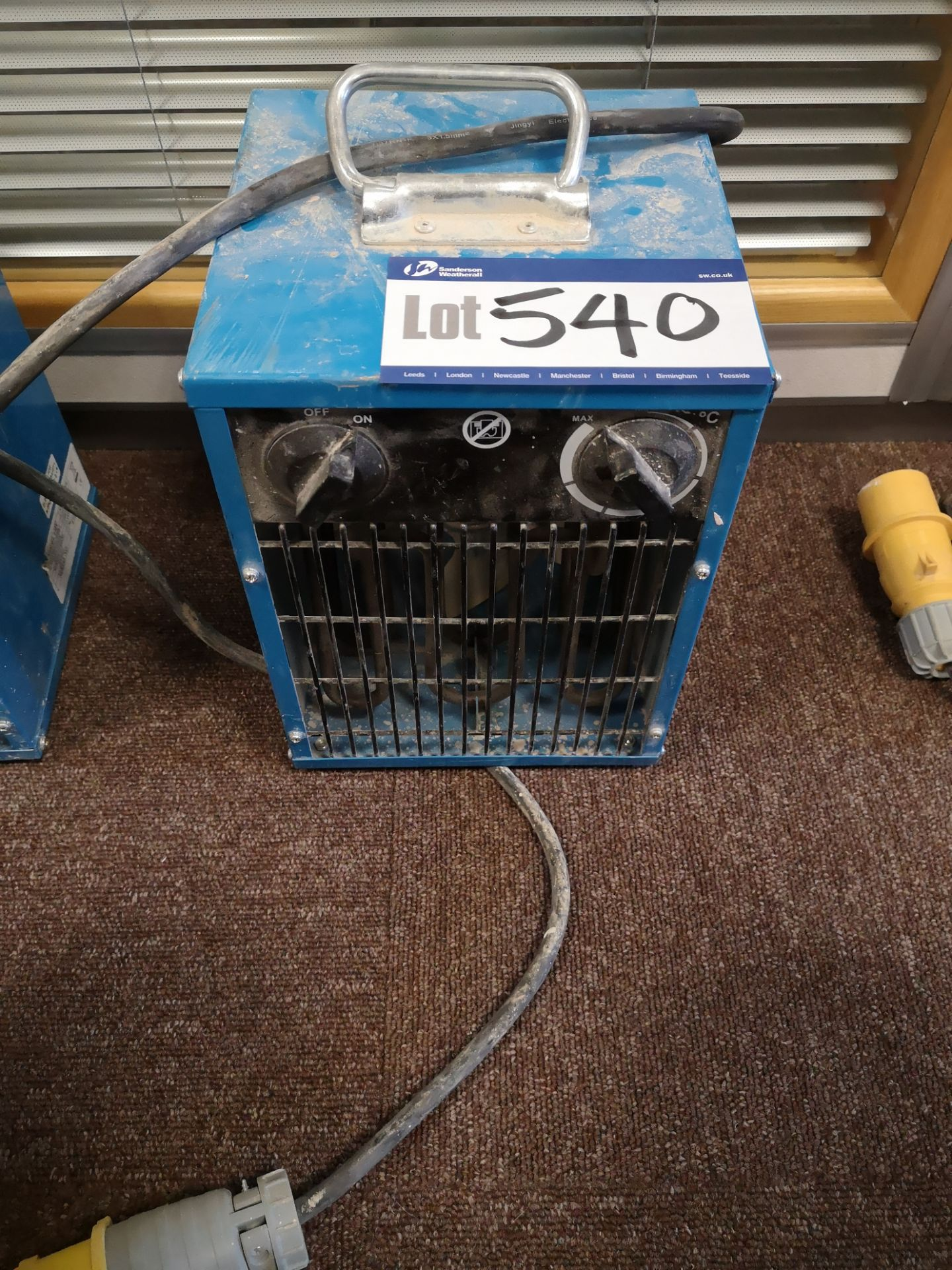 Lot 540 - Site Master Fan Heater, 110V (LOT LOCATED AT 153 L