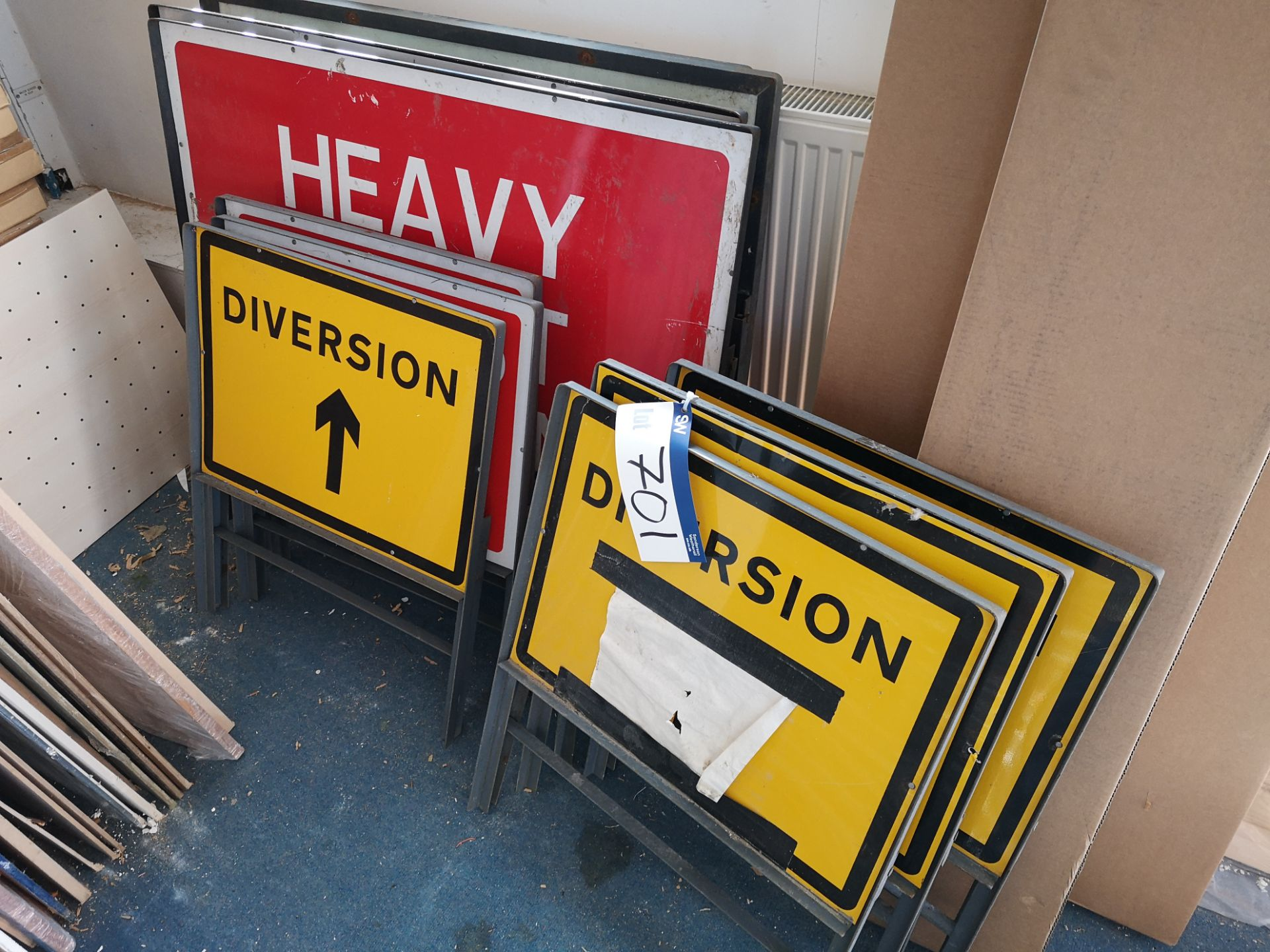 Lot 701 - Ten Road Signs (LOT LOCATED AT 153 LEEDS ROAD, GLA