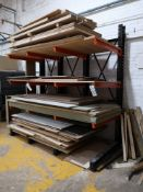 Free Standing Heavy Duty Cantilever Stock Rack, ma