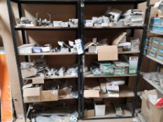 Contents of Two Bays of Shelving, including LED ex