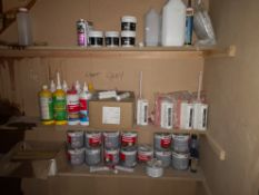 Quantity of Wood Fillers & Adhesives, as set out i