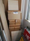 24 Boxes of Perforated Light Oak Veneered MDF Wall