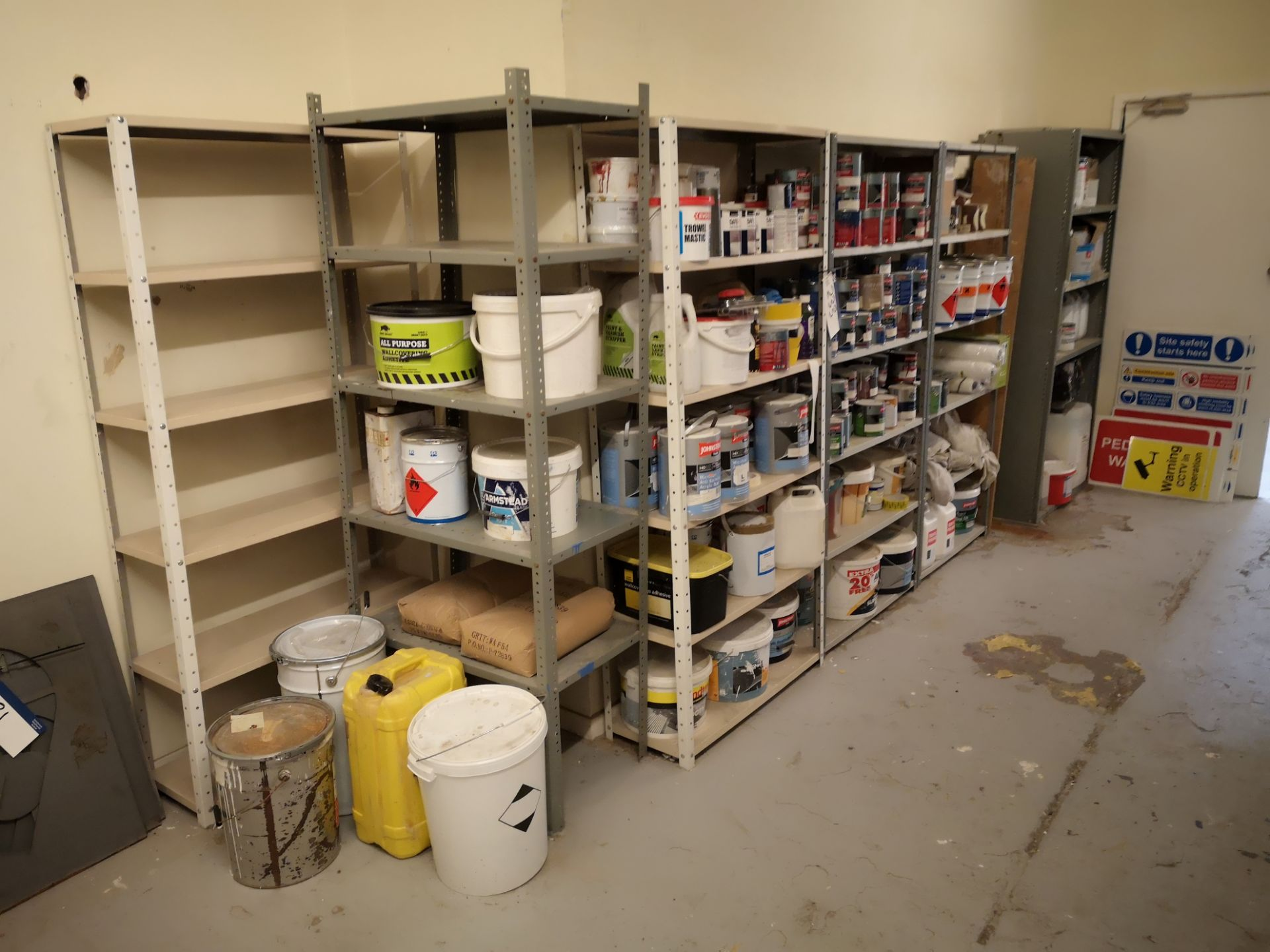 Lot 234 - Seven Bays of Steel Shelving, approx. 870mm x 310m