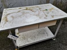White Metal Workbench (LOT LOCATED AT 8 WHITEHOUSE