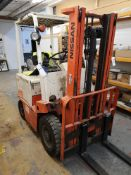 Nissan UBO2L200 Single Mast Electric Forklift BT R