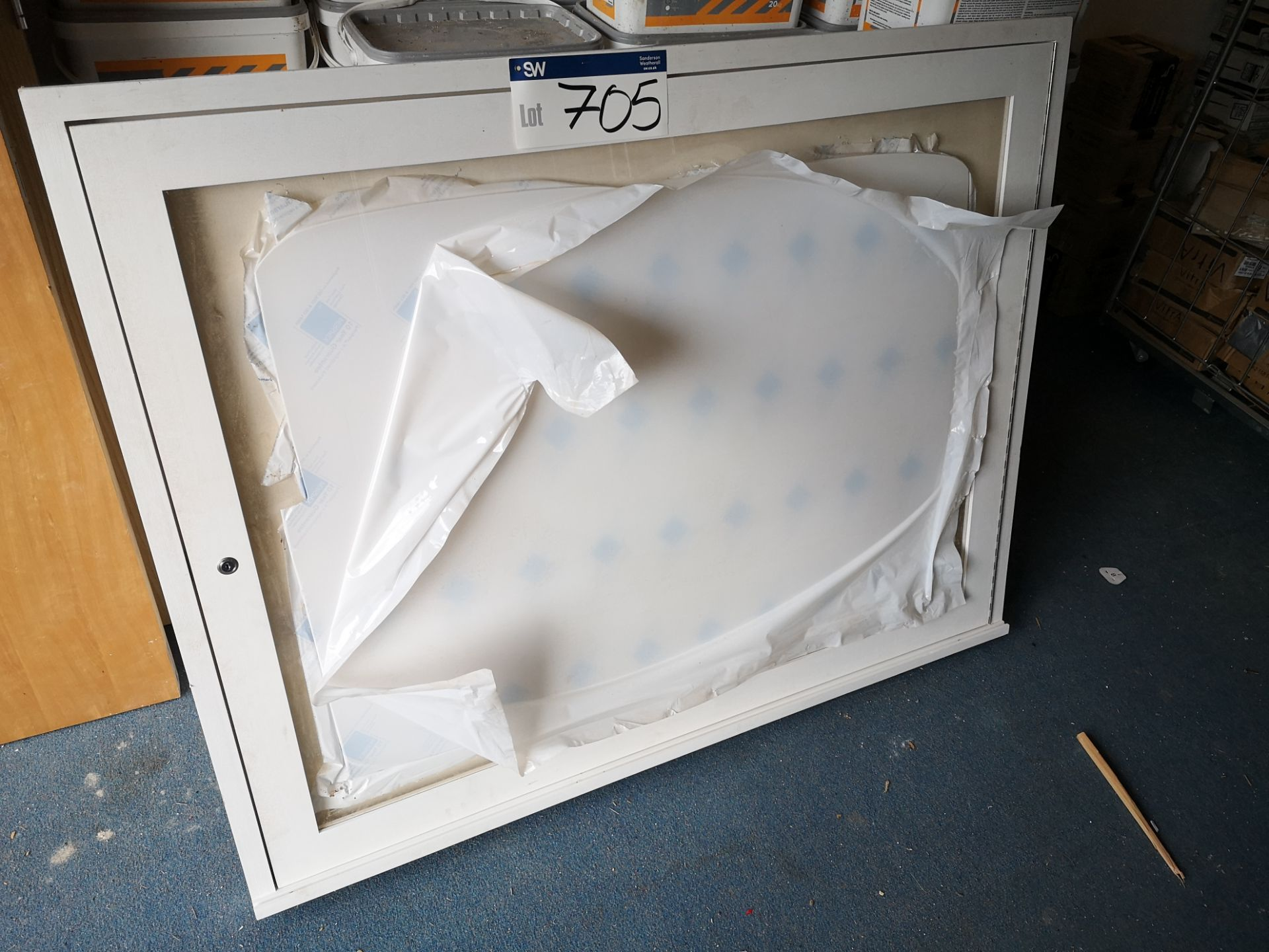 Lot 705 - Wooden Framed Display Unit, approx. 1100mm x 1410m