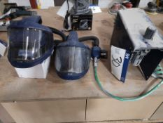 Two Sundstrom SR540 Face Masks, with two SR 507 co