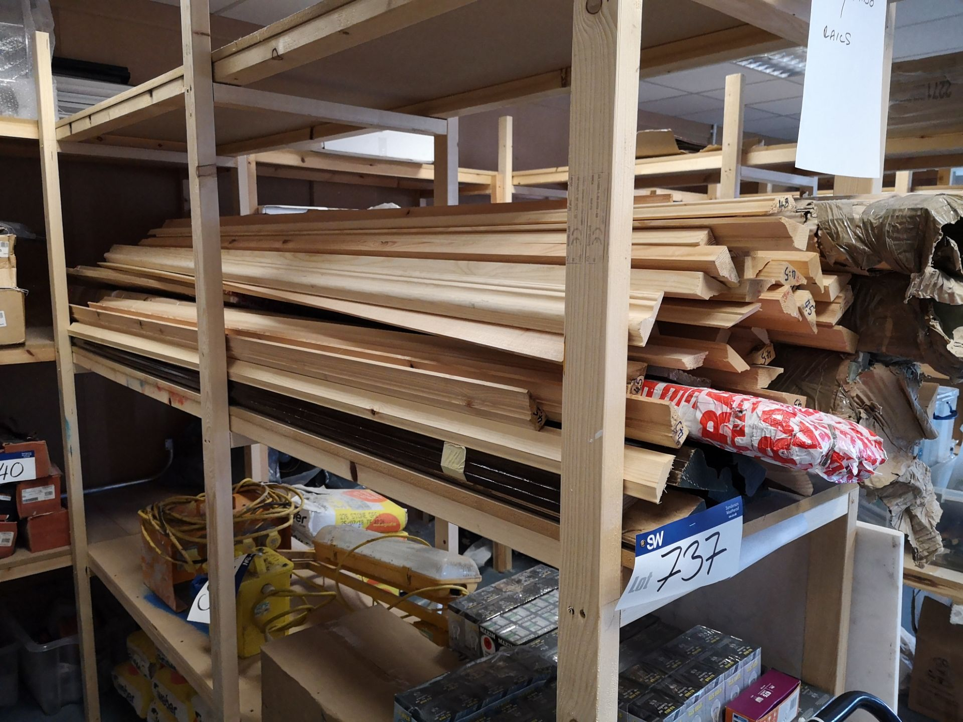Lot 737 - Quantity of Various Dado Rails, as set out on one