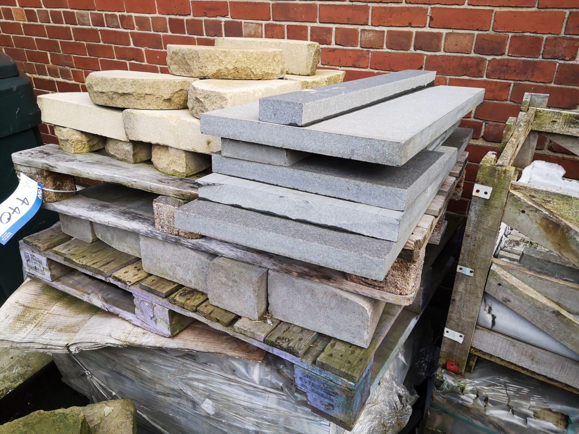Lot 440 - Quantity of Stone, Flags, Sills & Blocks, as set o