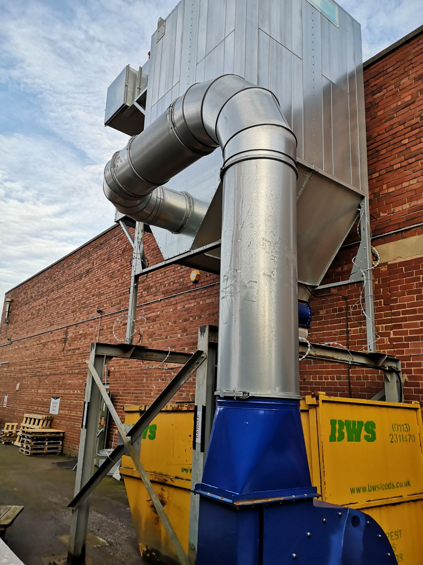 Lot 444 - DCS Atex Galvanised Steel Dust Extraction System c