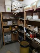 Contents of Three Bays of Shelving, including deio