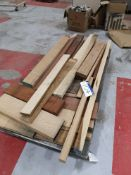 Quantity of Hardwood, various sizes, as set out on