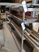 Four Bays of Aluminium Shelving, approx. 1600mm x