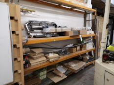 Contents to One Bay of Racking, including carpet t