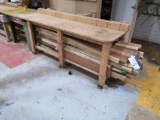 Quantity of Hardwood, various sizes, as set out un