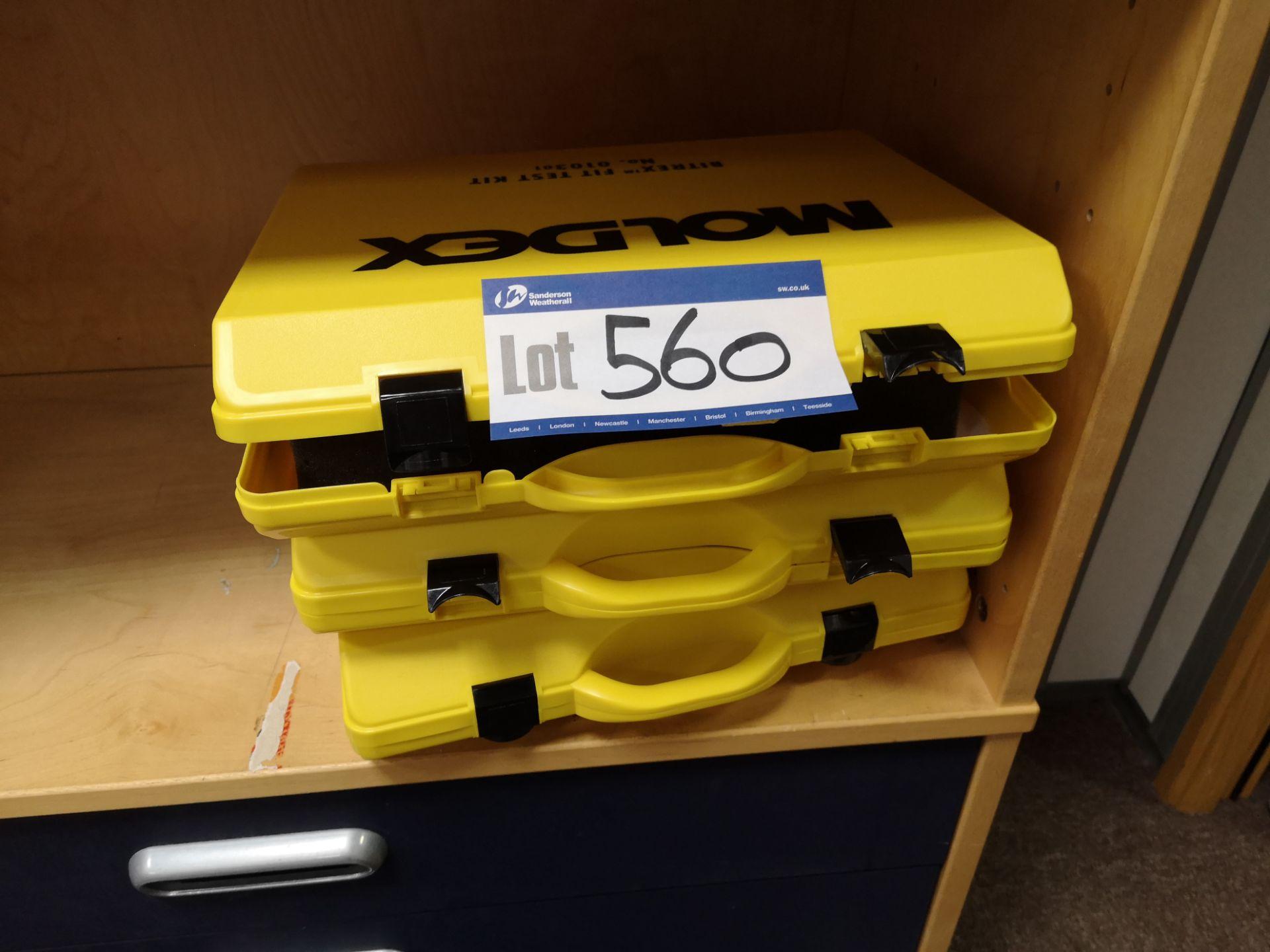 Lot 560 - Three Moldex Bitrex Fit Test Kits (LOT LOCATED AT