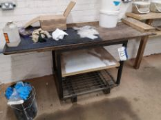 Mobile Metal Framed Workbench (located on first fl