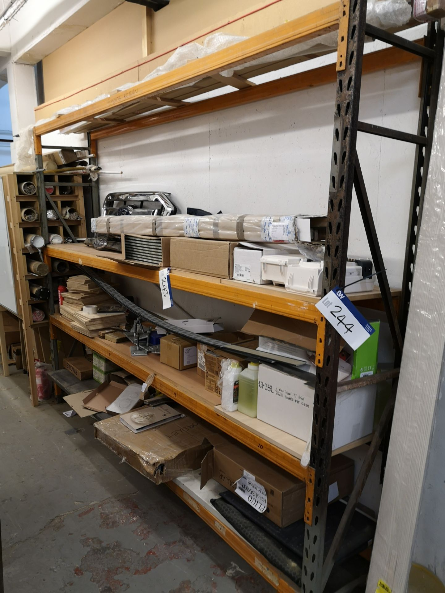 Lot 244 - One Bay of Steel Boltless Racking, approx. 3230mm