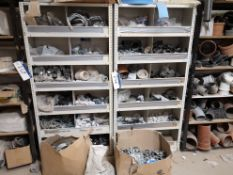 Six Bays of White & Grey Steel Shelving, approx. 8