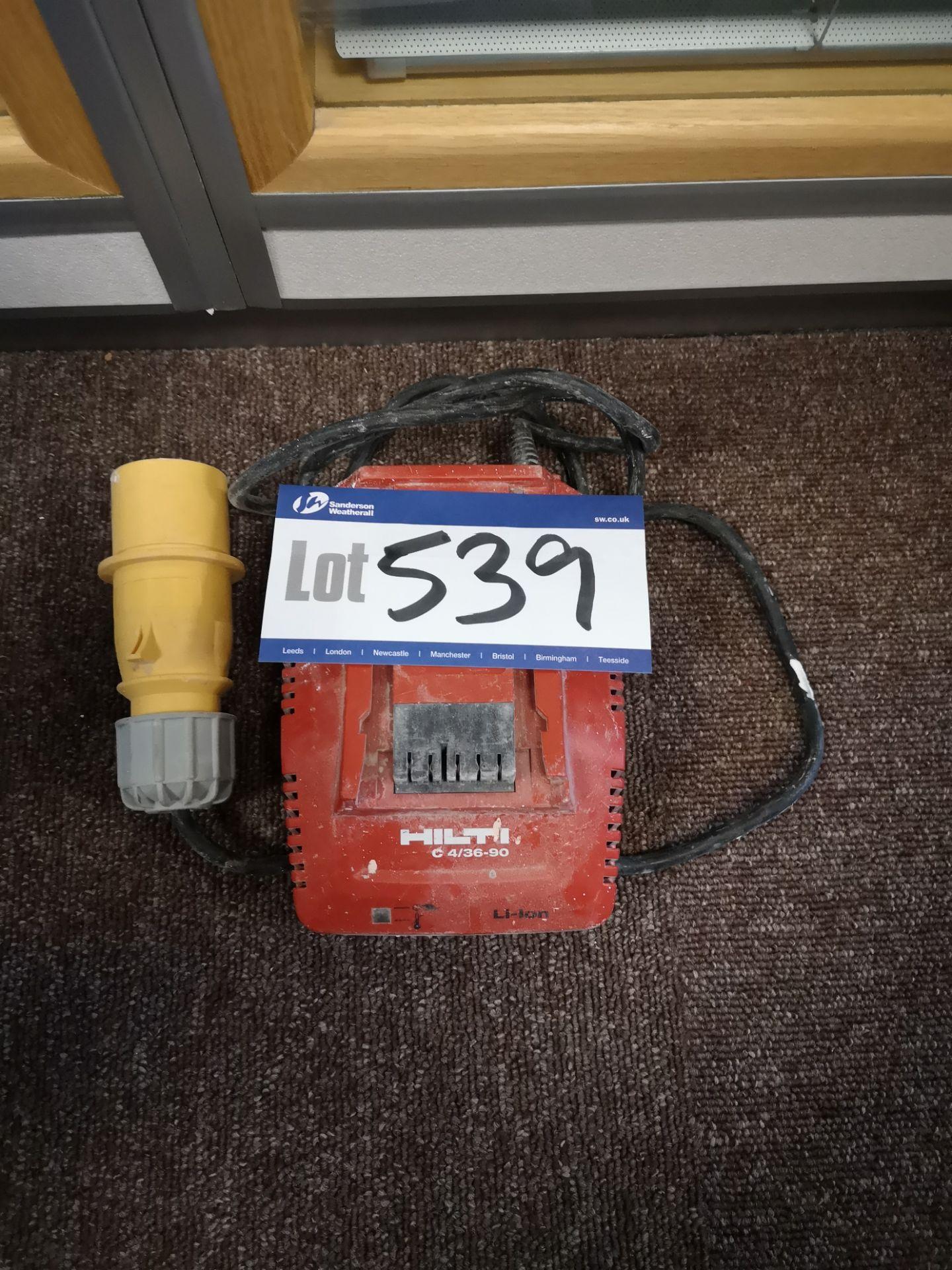 Lot 539 - Hilti C4/36-90 L-ion 7V-36V Battery Charger, 110V