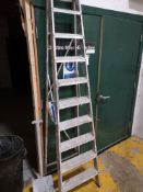 Ten Rise Aluminium Step Ladder (known to require a