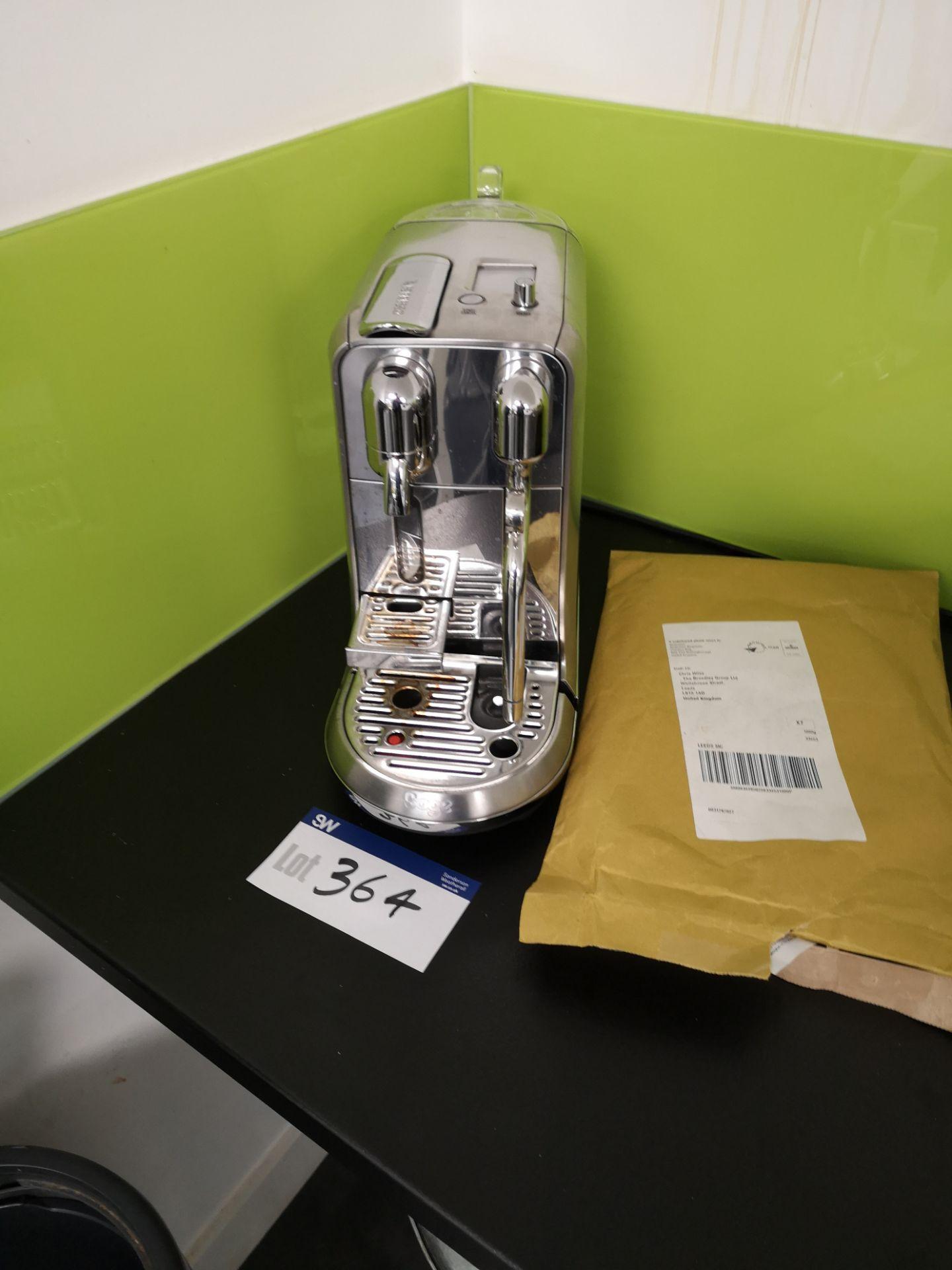 Lot 364 - Sage Nespresso Coffee Machine (LOT LOCATED AT 8 WH