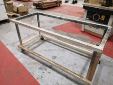 Mobile Steel Bench Frame (no top), approx. 1780mm