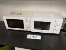 Two 700W Microwaves (on first floor) (LOT LOCATED