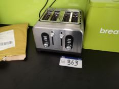 Cookworks Four Slice Toaster (LOT LOCATED AT 8 WHI