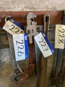 Two 24in. Pipe Wrenches, as set out rack
