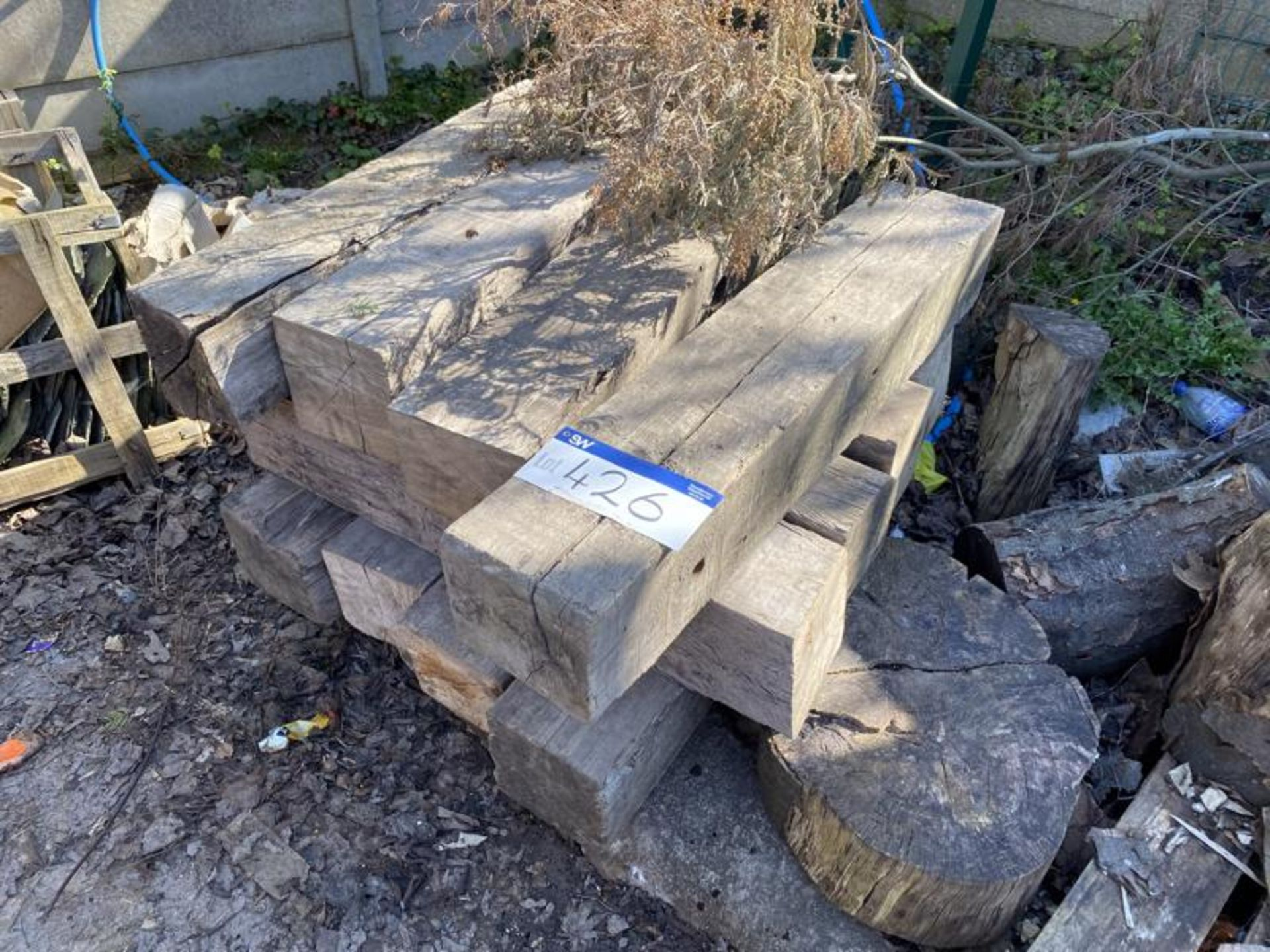 Los 426 - Assorted Timber Baulks, up to approx. 1.05m x 200m