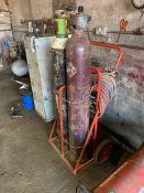 Steel Framed Twin Bottle Trolley, with regulators,