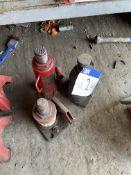 Three Hydraulic Bottle Jacks