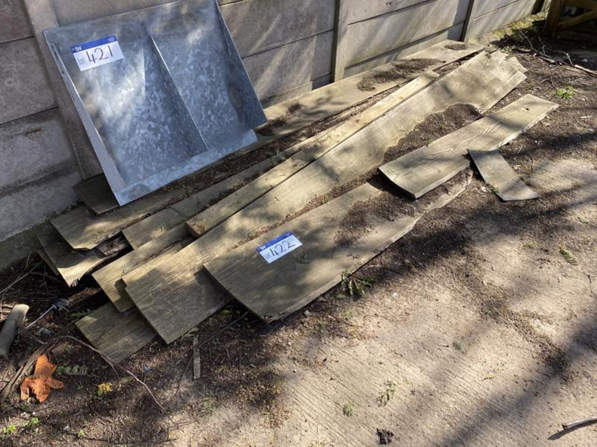 Lot 422 - Assorted Timber Boards, as set out in one area