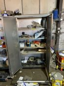 Double Door Stainless Steel Cabinet, with contents