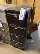 Four Drawer Steel Filing Cabinet, with contents in